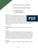 Gonzáles Sánchez, Rafael. 2016. Oportunidades y Riesgos de La Lectura Digital. Métodos de Información [en Línea], 7(13), Pp. 119-143