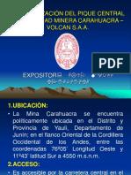 Profundizacion Del Pique Central Carahuacra