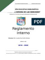 Reglamento Interno Institución Educativa Emblemática Nuestra Señora de las Mercedes - Huánuco