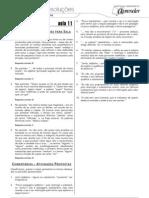 Português - Caderno de Resoluções - Apostila Volume 3 - Pré-Universitário - port1 aula11