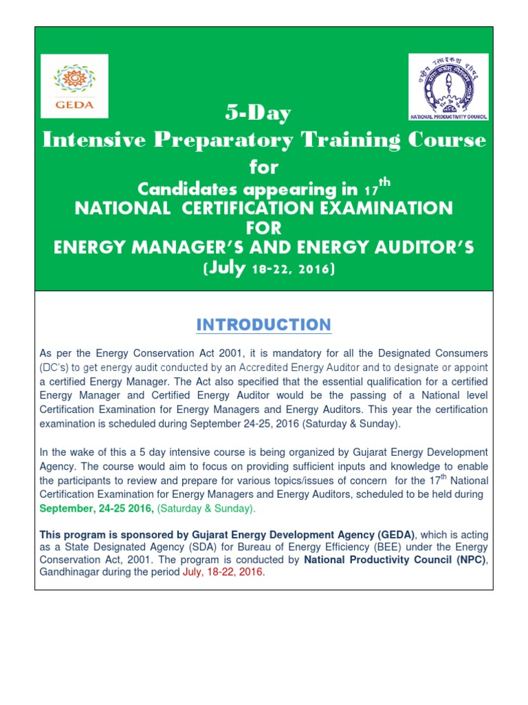 energy audit reports of national productivity council