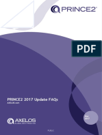 Prince2 2017 Update Faqs