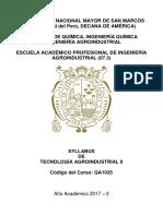 Syllabus Tecnologia II 2017-2 Final Unmsm