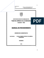 Manual de Procedimientos -IEE Nuestra Señora de las Mercedes - Huánuco