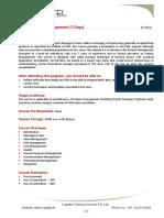 Toast to Project Management_Course Description