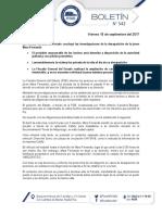 Boletín 542 - Fiscalía General del Estado de Puebla informa sobre feminicidio de Mara Fernanda Castilla