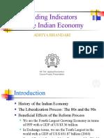 Leading Indicators in the Indian Economy