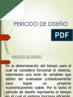 Periodo de Diseño