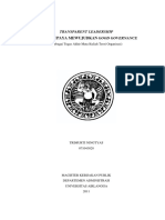 Transparent Leadership Final Paper To
