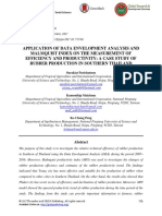 Application of Data Envelopment Analysis and Malmquist Index on the Measurement of Efficiency and Productivity- A Case Study of Rubber Production in Southern Thailand