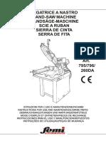 Instrucciones Para El Uso y Manutencion y Repuestos - Femi 795 - 796