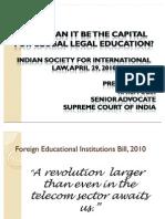 Foreign Univs Bill - 2010
