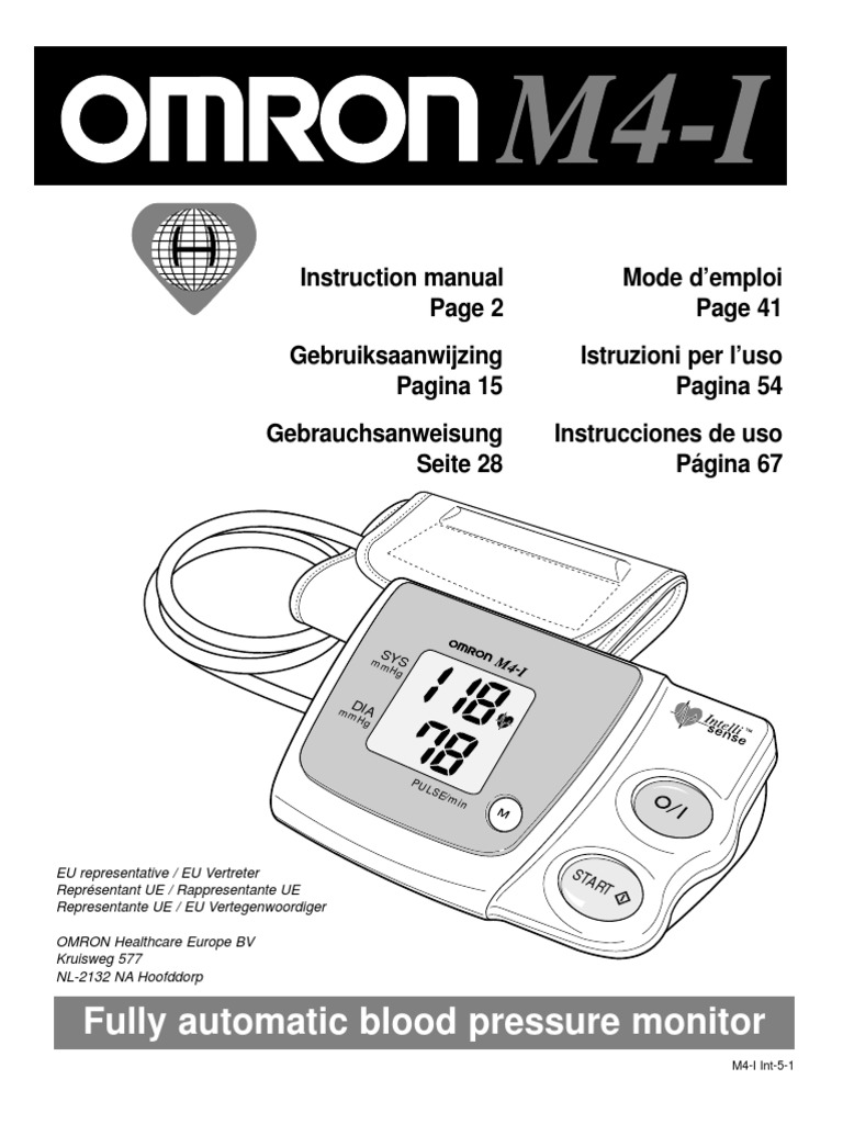Omron m4-i user manual.
