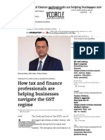How GST and Finance Professionals Are