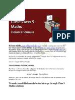 Maths NCERT Solutions Class 9 - Chapter 12 Heron's