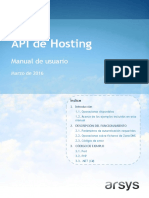 Manual de Usuario API Hosting