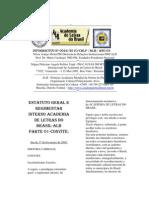 INFORMATIVO Nº 0022-CBLP/DRI/ACADEMIA DE LETRAS DO BRASIL-CONVITE E ESTATUTO ALB
