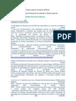 Relatórios Estagiários Seminário Políticas Públicas