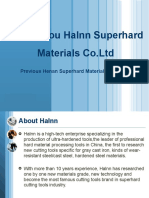Halnn Superhard PCBN Tools and the corresponding tools solutions