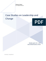 Case Studies on Leadership and Change