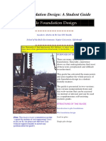 Pile Foundation Design a Student Guide