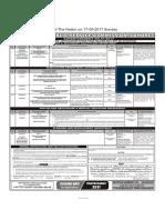 PPSC  Advt 51-2017 - 14-09-2017