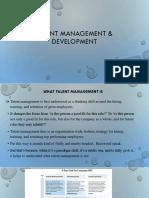 Talent Management & Development PPT SLIDES