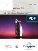 Kooltherm Fm Duct Insulation Row Brochure 2nd Issue May 2016