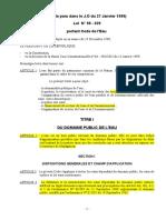 Code de l'Eau (Loi 98-029)