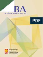 MBA program Handbook 2018-2019
