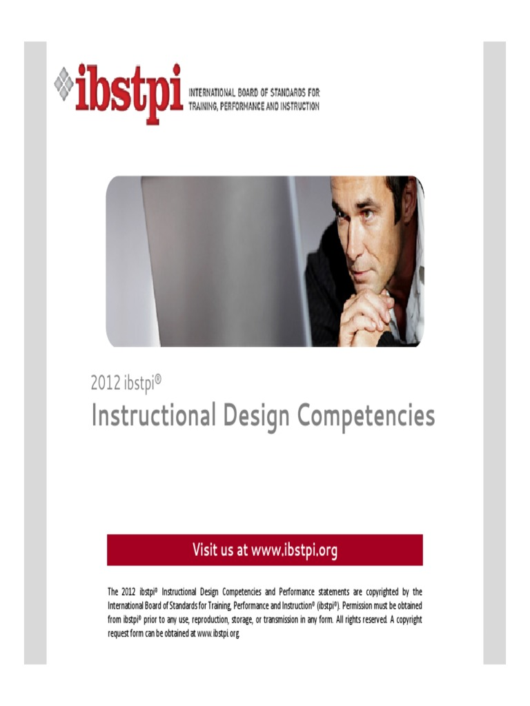 2012 Ibstpi Instructional Design Competencies Instructional Design Needs Assessment