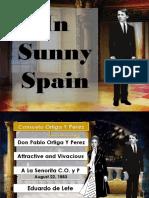 In Sunny Spain ppt.