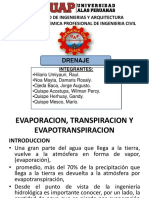 Evaporacion, Transpiracion Ppt Drenaje Grupo-II