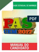 Manual Do Candidato - Pas 2017