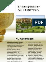 B.tech Programmes NIIT University