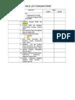 Checklist Standar Pmkp