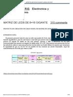 MATRIZ DE LEDS DE 8×16 GIGANTE