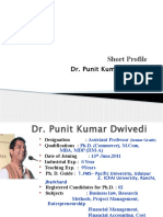 Dr.Punit Kumar Dwivedi _Profile_PPT_Academic