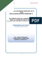 Obra Municipio El Alto