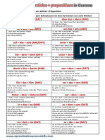 Contractions in German