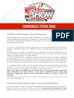 Communiqué de presse des organisateurs de l'Xtrem Dirve Show