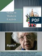 Slang in Modern English