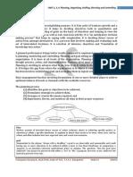 Management & Entrepreneurship Notes Unit234 RNS VTU