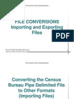 File Conversions