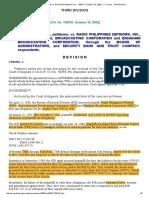 19. Traders Royal Bank v. Radio Philippines Network
