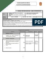 Plan de Evaluación 2 Basico 1er periodo