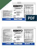 Kenyo x 180L,1L,500ml 250ml