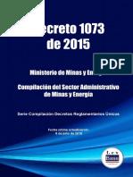 Decreto 1073 de 2015 Unico Setor Minas y Energia