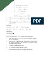 2013 Specimen Paper Unit 1 Paper 1