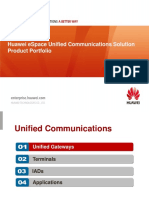 Huawei ESpace Unified Communications Solution Product Portfolio